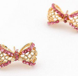 Sparkling Bow Tie Earrings | LilyFair Jewelry