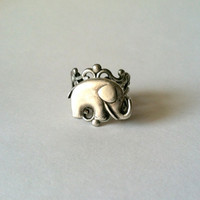 Elephant Filigree Ring, Good Luck Elephant