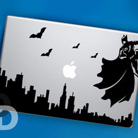 Dark Knight Cityscape Sticker Decal for MacBook Pro, Macbook Air.
