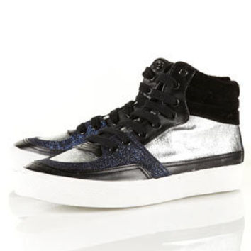 Glitter Hi-top Trainers - New In This Week  - New In