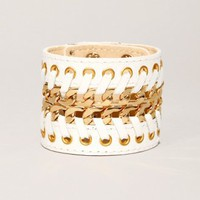 White chain leather cuff [Bil6944] - $44 : Pixie Market, Fashion-Super-Market