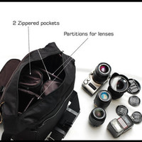 This Digital SLR Camera Case by Sizzlestrapz has Zipper Enclosure in  Large  - Paisley Armor