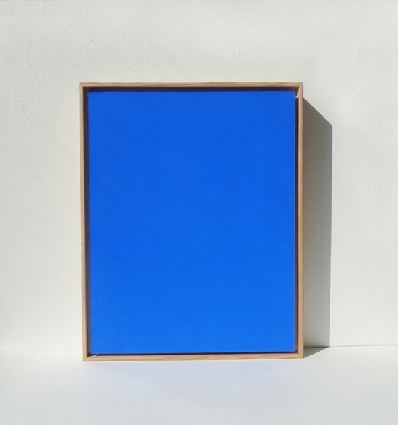 Ultramarine Blue Monochrome Painting