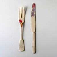 Porcelain Flatware by Mel Robson