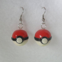 Pokeball Earrings, Gotta Catch Em All :D