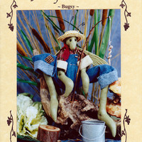 Pattern: Bugsy the Grasshopper Fisherman - Susan Backlund