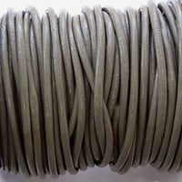 Round Leather Cord 1.5mm Beige Grey - 2 Yards  B688