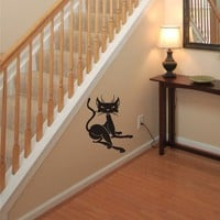 Lazy Kitty Cat Wall Decal Art Stickers