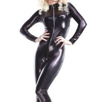 Amazon.com: Black &quot;Rubber Look&quot; Cat Suit!: Clothing