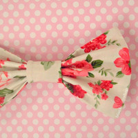 Kawaii Hair Bow/Clip Pink Red Rose