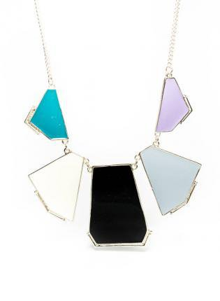 Color Block Statement Necklace