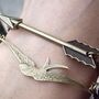 The Hunger Games ,Inspired Mockingjay and Arrow bracelet -antique SILVER or brass