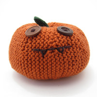 Large JackoLantern Decoration. Knitted Pumpkin