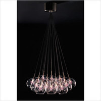 ET2 - E20113-21 / E20113-22 / E2011-24 / E2011-25 - Starburst Nineteen Light Pendant in Satin Nickel | CSN Lighting