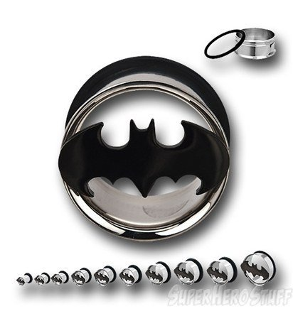 Batman 316L Surgical Steel Tunnel Plugs