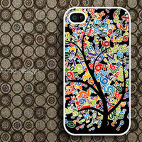 covers for the iphone iphone in case iphone cover iphone four cases nique case iphone 4 or 4s case colorized number tree design