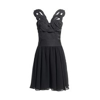REISS Womens Sonia Black Ornamental Bodice Dress