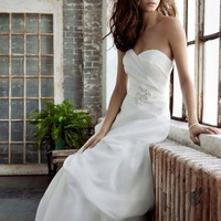 Buy Sweetheart Organza Gown with Pick Up Skirt Style PK3226  for $144.16 only in Fashionwithme.com.