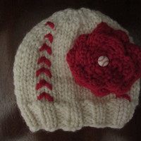Girl&#x27;s baseball/softball knit hat