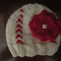 Girl's baseball/softball knit hat
