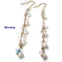 3 inch Swarovski Dangle Earrings