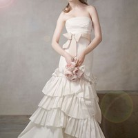 Buy Mermaid Gown with Pleated Skirt and Bubble Hem Style VW351043  for $178.54 only in Fashionwithme.com.
