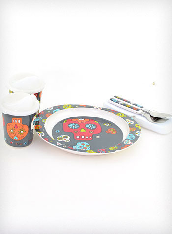 Sugar Skulls Mealtime Set