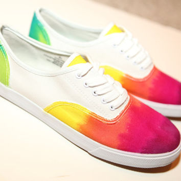 Handmade Tie Dye Shoes