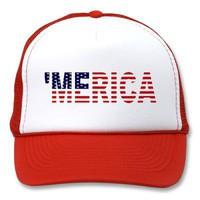 'MERICA US Flag Hat from Zazzle.com