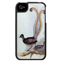 Lyre Bird Vintage Poster Iphone 4 Cases from Zazzle.com