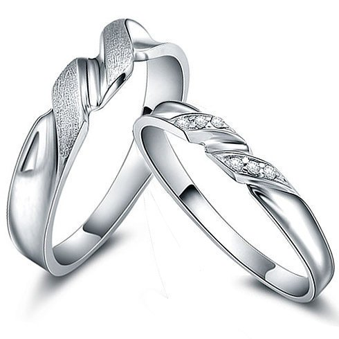 Gullei Trustmart : Custom made engraved zircon sterling silver couple rings [GTMCR0037] - $38.00 - Couple Gifts, Cool USB Drives, Stylish iPad/iPod/iPhone Cases & Home Decor Ideas