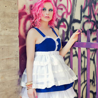 UpCycled Harajuku Alice In Wonderland Cosplay Costume by Janice Louise Miller