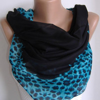 ON SALE Cotton Scarf - Headband - Necklace - Leopard-Soft cotton fabric.