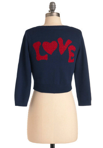 Betsey Johnson Something to Say Cardigan love | Mod Retro Vintage Sweaters | ModCloth.com
