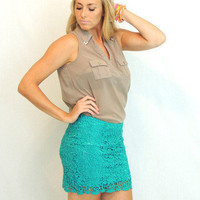 You've Got The Love Skirt in Jade -  $44.00 | Daily Chic Bottoms | International Shipping