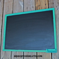 Chalk Board, Teal Blue, Menu Board,  Shabby Chic, Kitchen, Wood Board