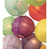3.5` D Multicolor Paper Lantern String Lights (set of 10)