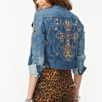 Jeweled Denim Jacket