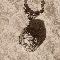 Victorian Cameo Solid Perfume Locket