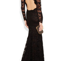 Emilio Pucci | Backless guipure lace gown | NET-A-PORTER.COM