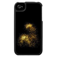 Gold Glitter Fireworks Photography iPhone case from Zazzle.com