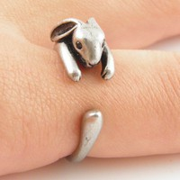 Silver Bunny Wrap Ring