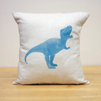 Handmade Dinosaur Pillow - T REX - Choose Your Color