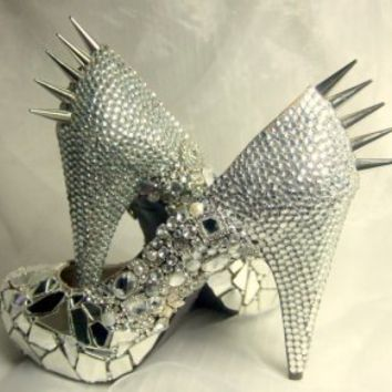 Cinderella Gone Bad - Spiked & Sparkled Platform Heels : Everlastinglifashion | CHIQ