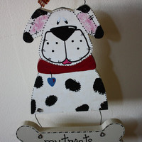 Dalmation Dog and his Doggie Bone Sign
