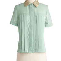 Dream in Pictures Top | Mod Retro Vintage Short Sleeve Shirts | ModCloth.com