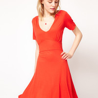 French Connection V Neck Dress at asos.com