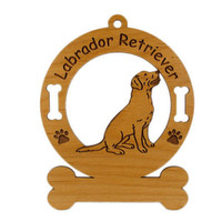 3479 Labrador Retriever Sitting Personalized Dog Ornament