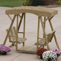 Amish Wood Double Lawn Glider