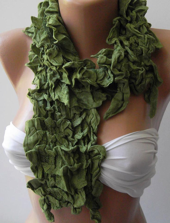 ON SALE /Green / Elegance Shawl / Scarf